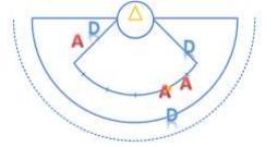 Figura 3 - posizionamento delle giocatrici nel free shot
